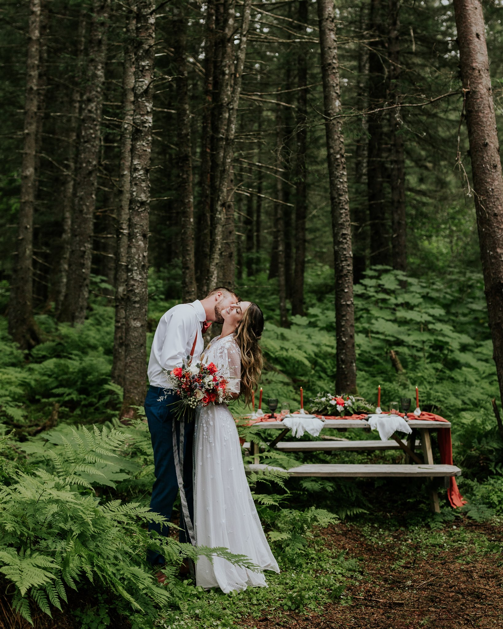 a-frame cabin wedding salted roots alaska