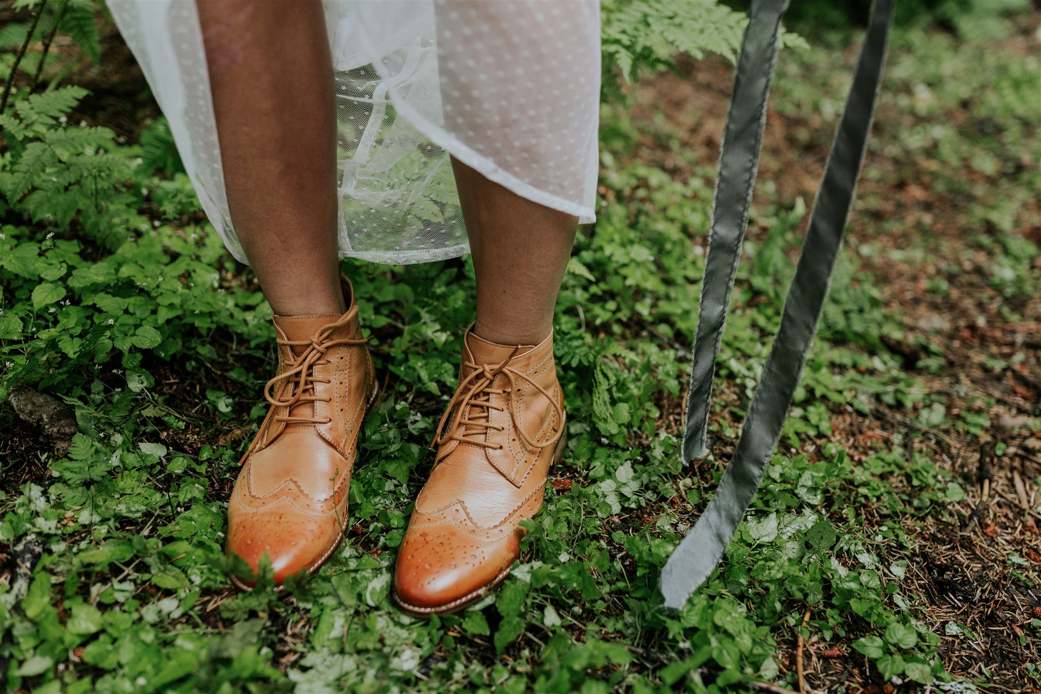 elopement wedding boots bride