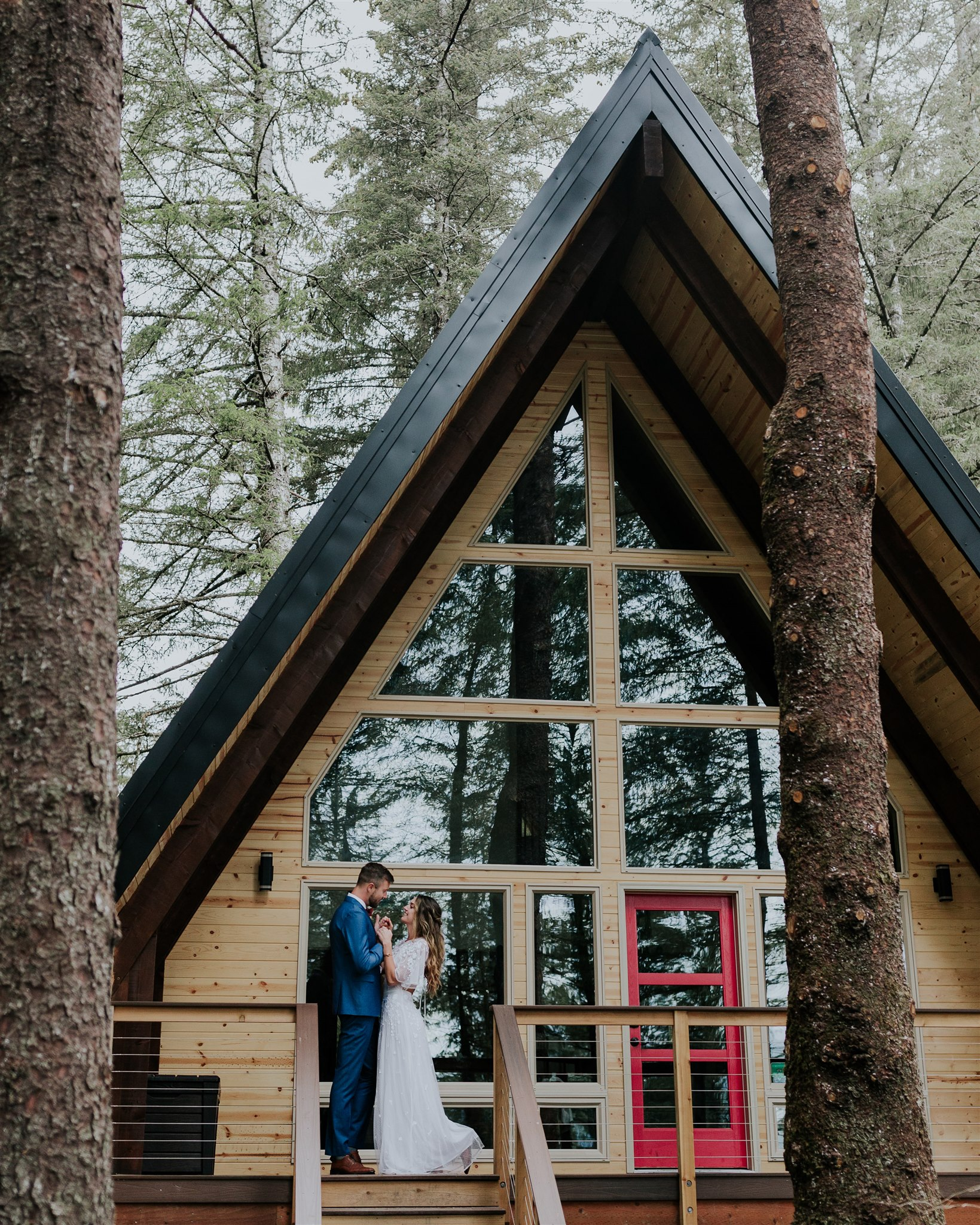 salted roots a-frame cabin alaska wedding elopement