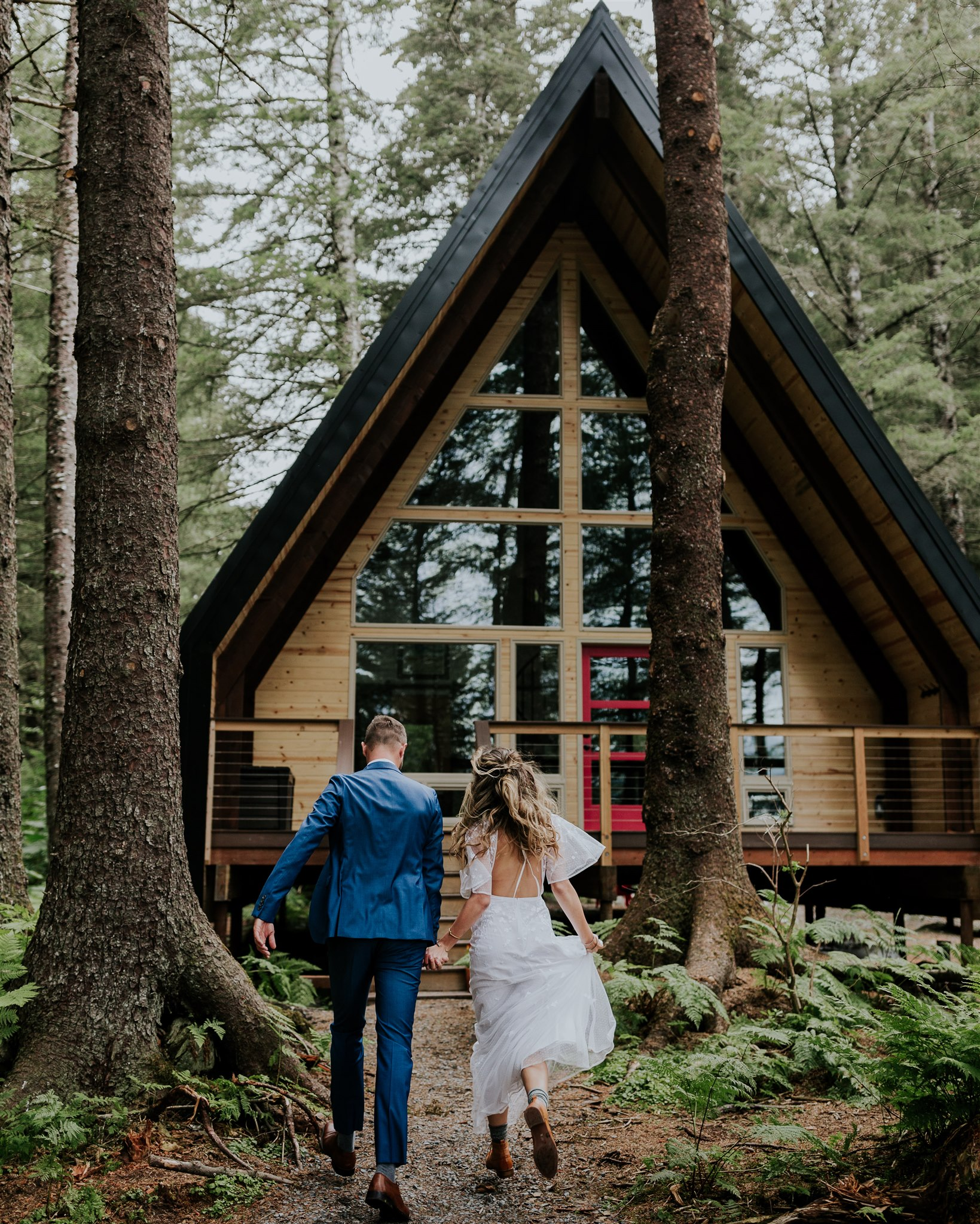 a-frame cabin alaska salted roots wedding elopement