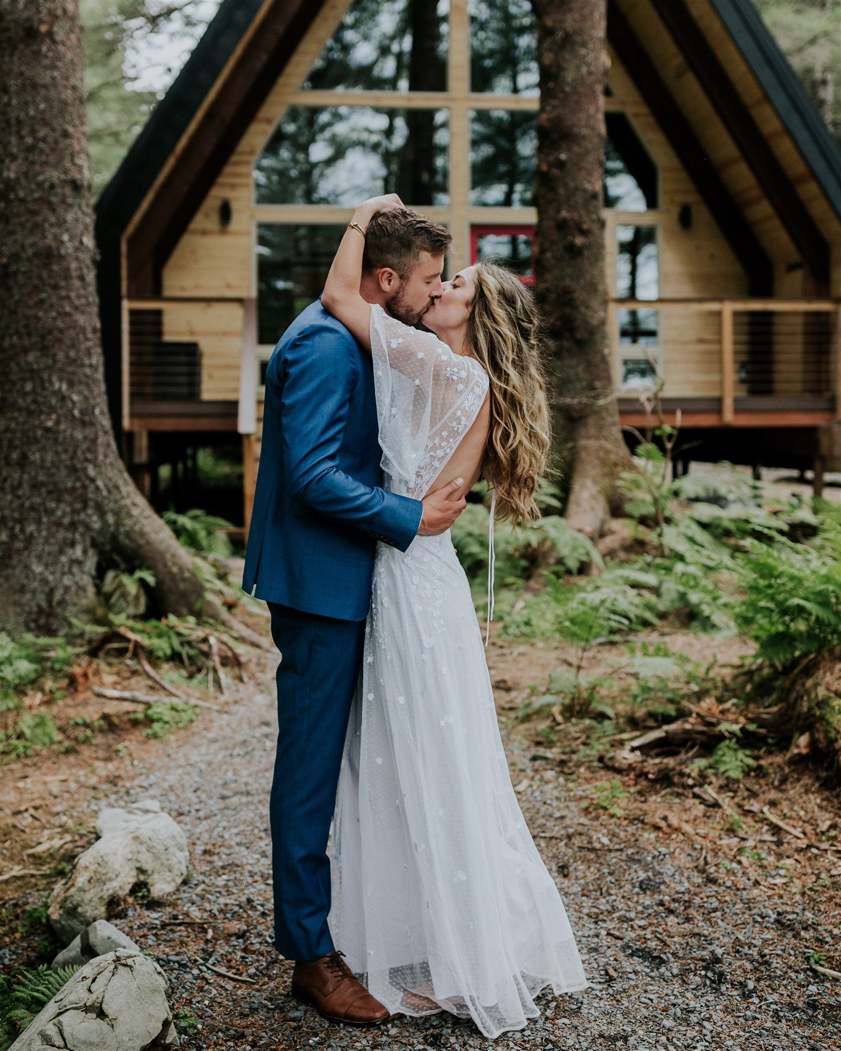 a-frame cabin salted roots alaska wedding elopement photographer