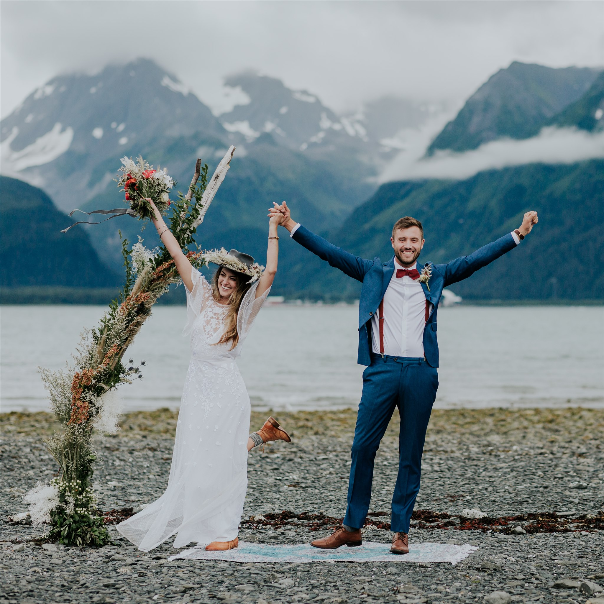 miller's landing wedding salted roots alaska