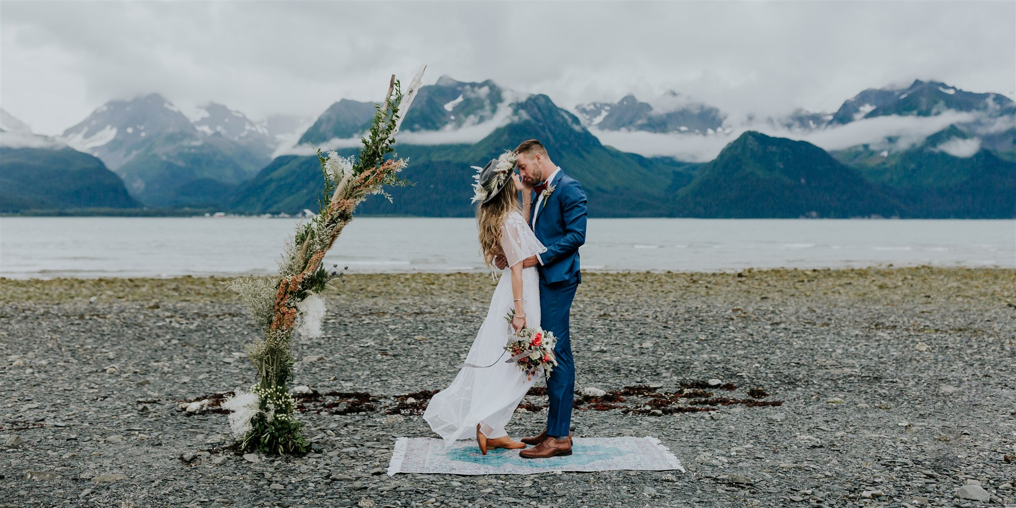 seward alaska wedding photographer a-frame cabin salted roots
