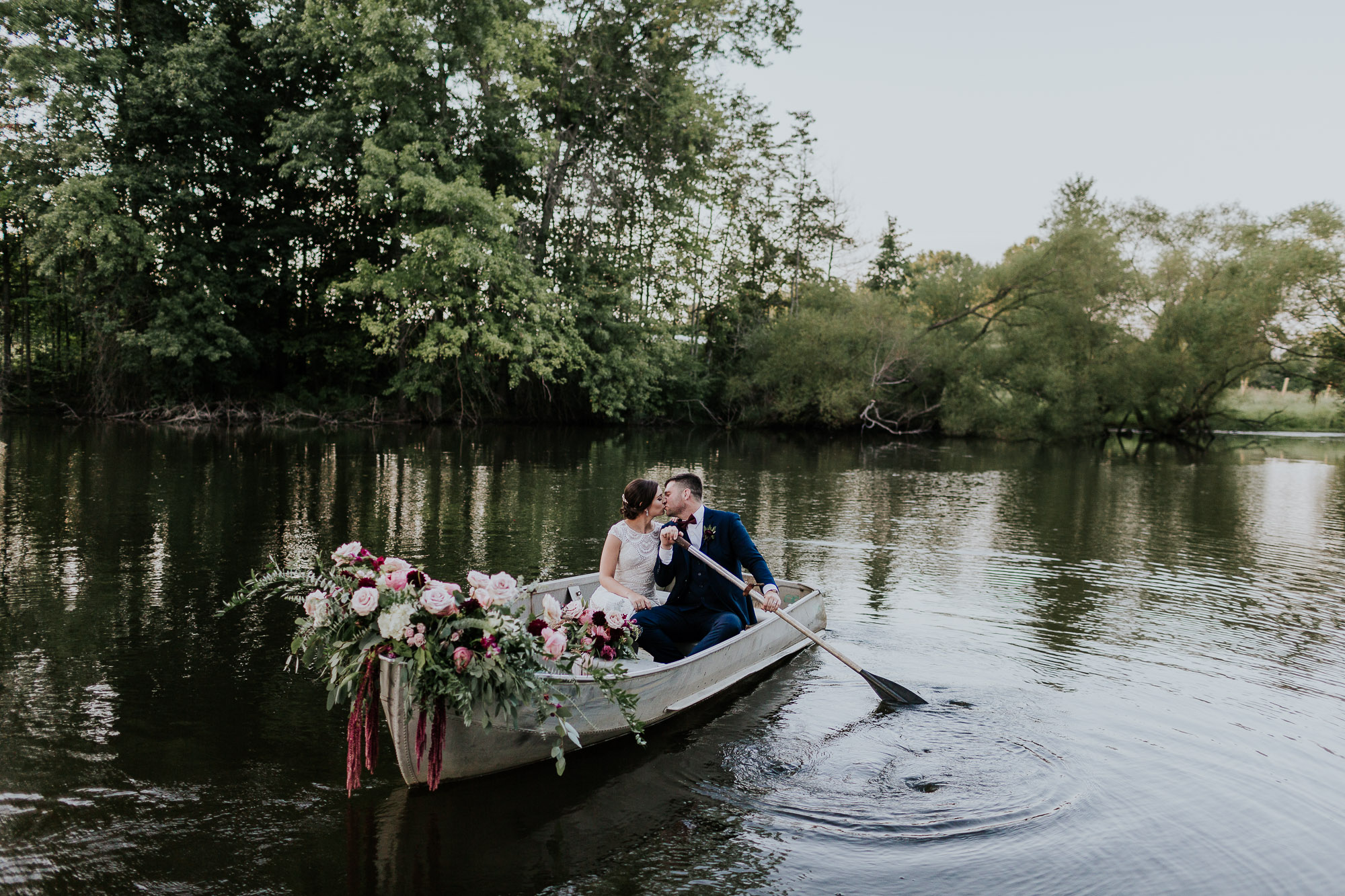 row boat wedding florals inspiration outdoor wedding photographer