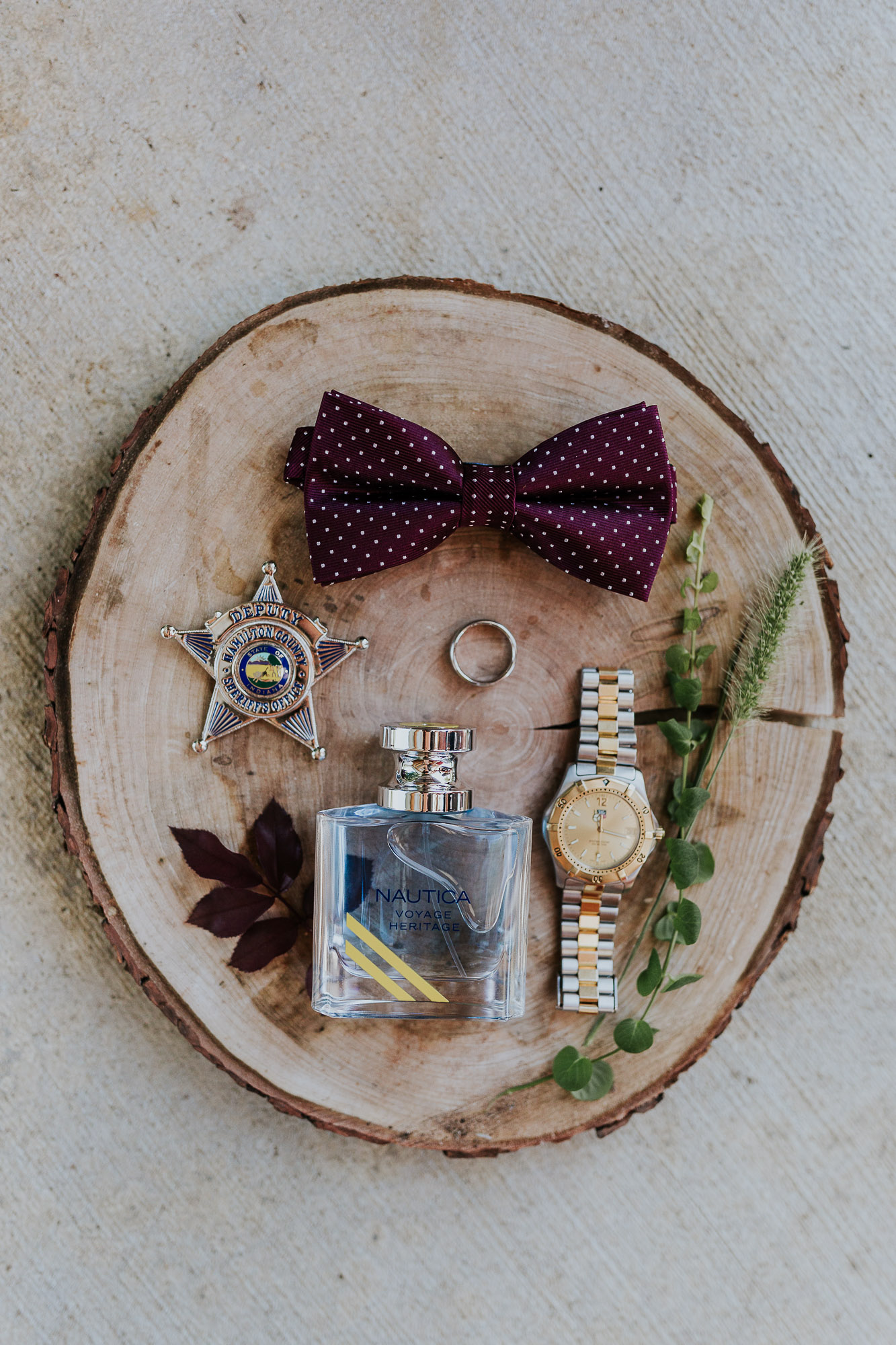adventurous outdoor wedding southern indiana midwest wedding photographer bow tie groom maroon