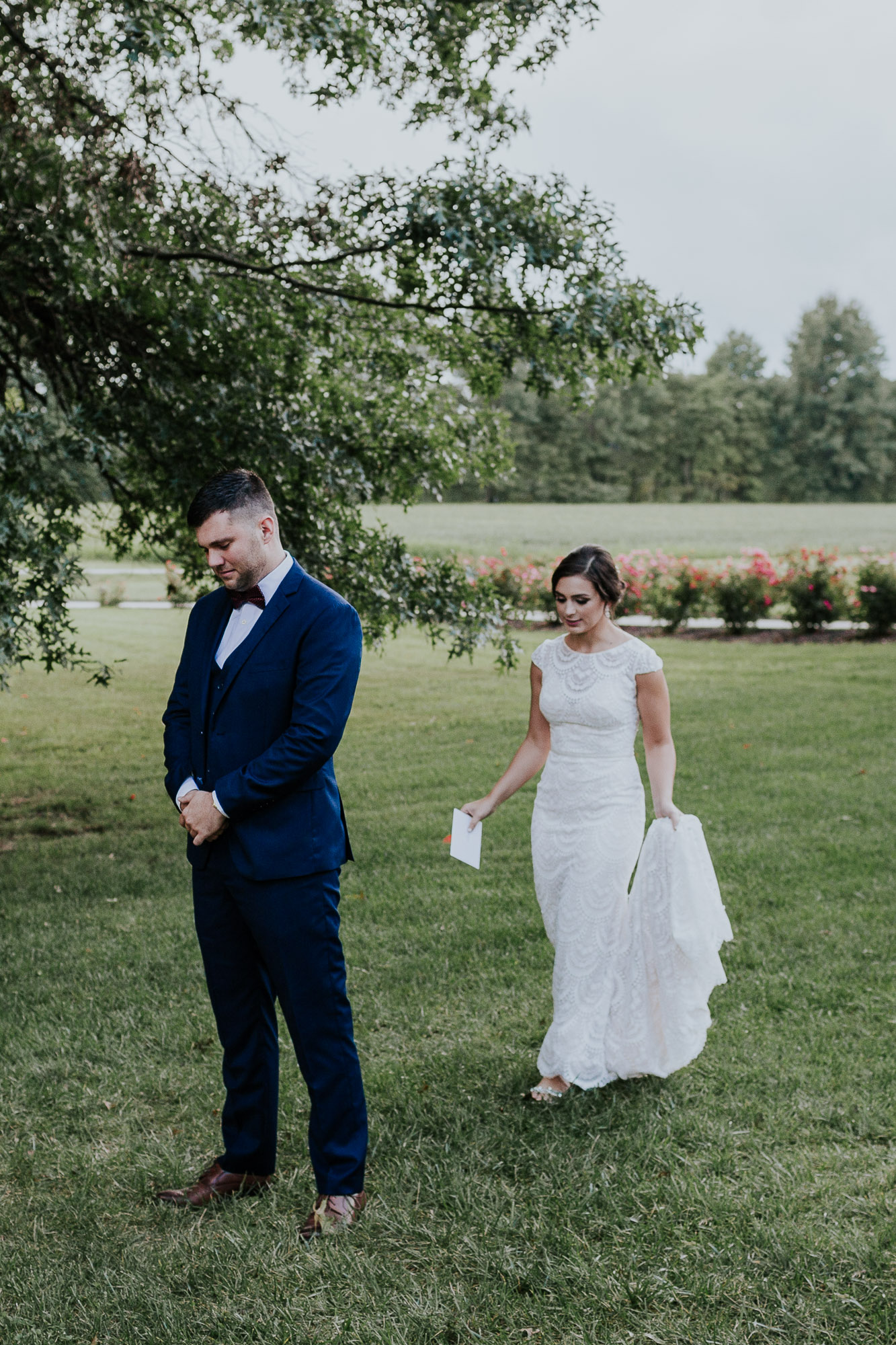 adventurous outdoor wedding southern indiana midwest wedding photographer emotional first look wedding