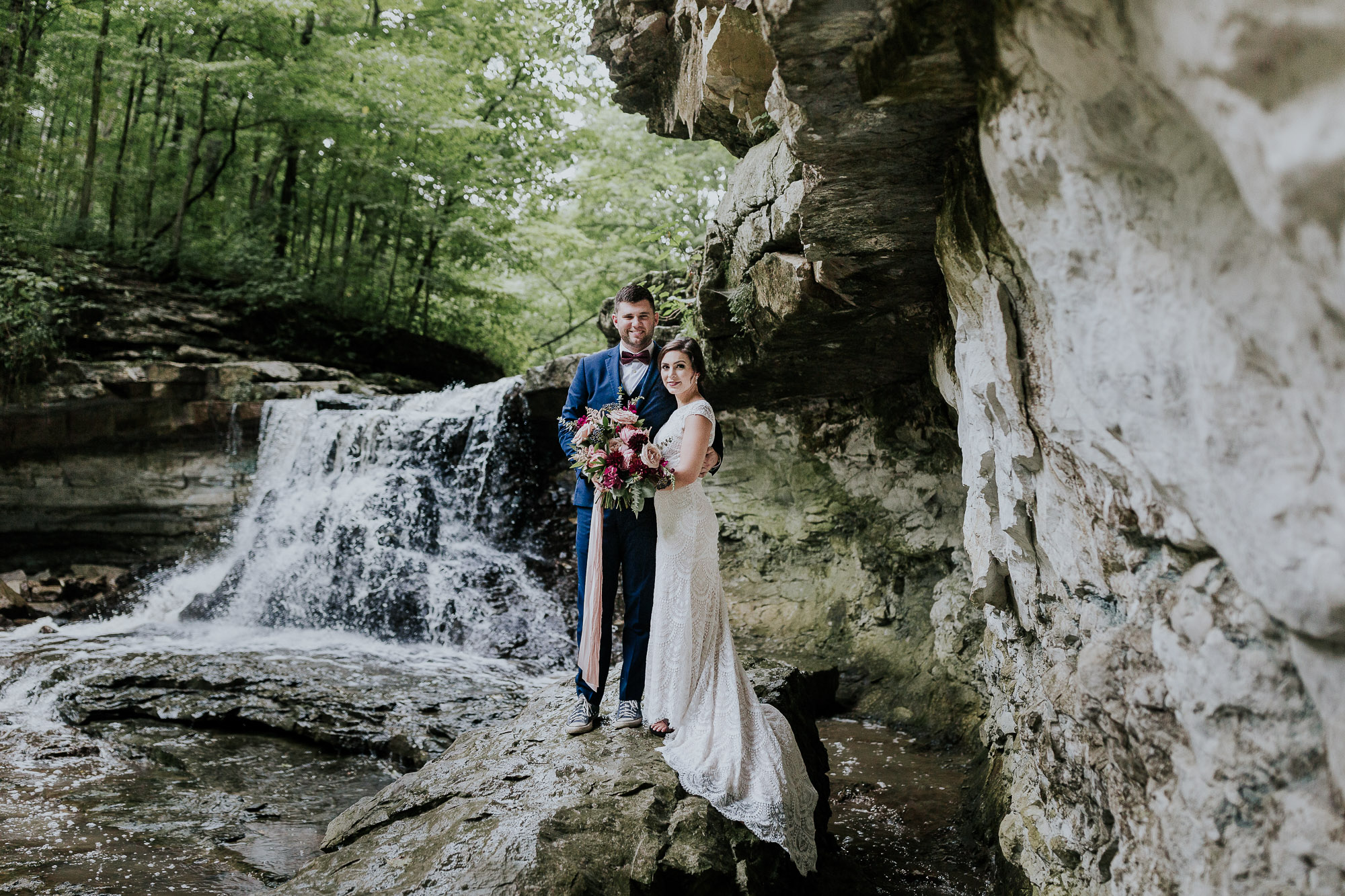 waterfall wedding inspiration midwest wedding photographer
