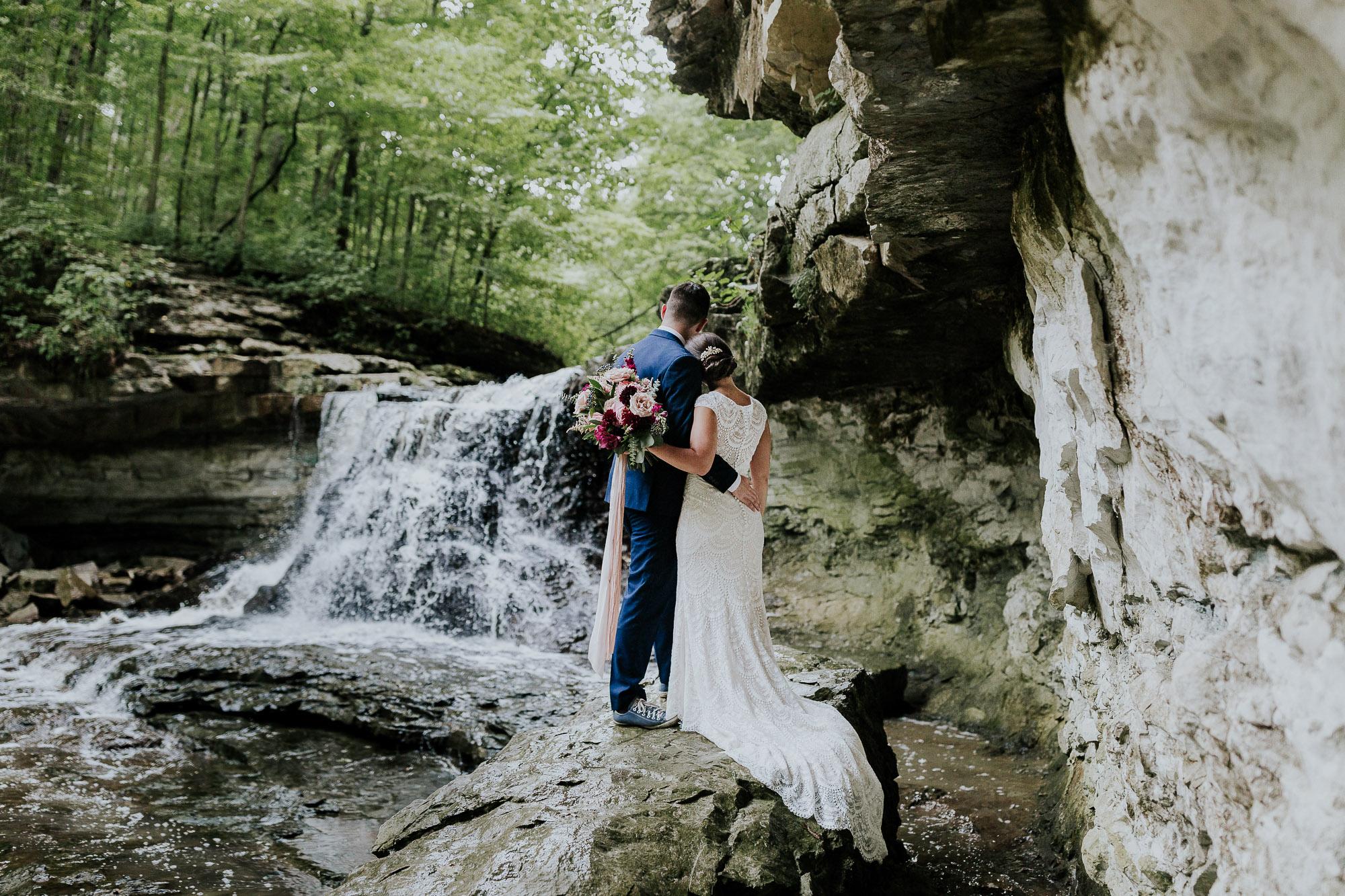 adventure wedding waterfall inspiration elopement photographer