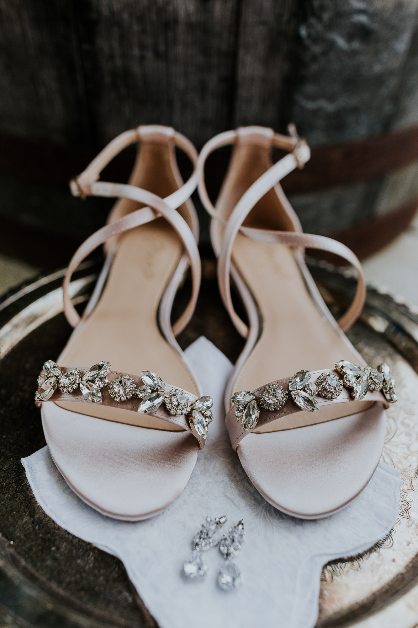 adventurous outdoor wedding southern indiana midwest wedding photographer sparkly pink wedding shoes