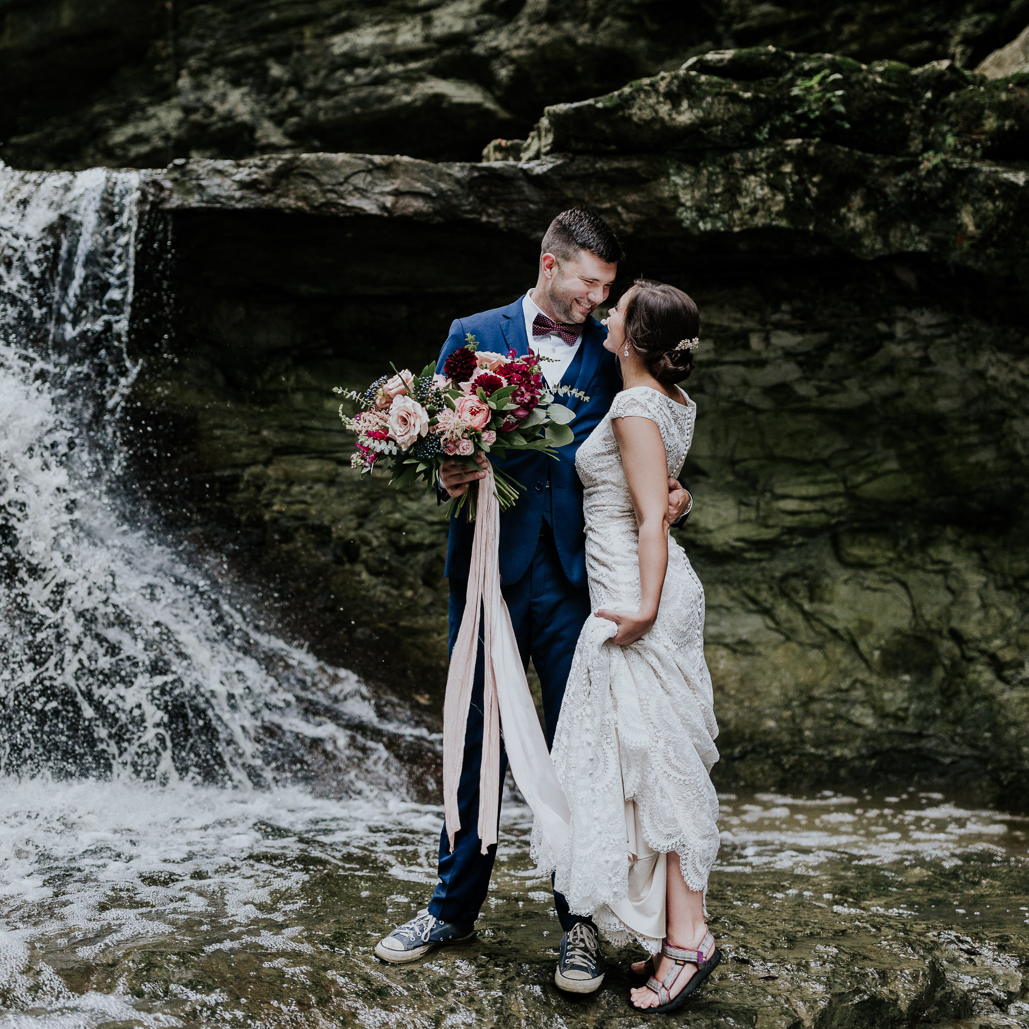 waterfall elopement inspiration photographer