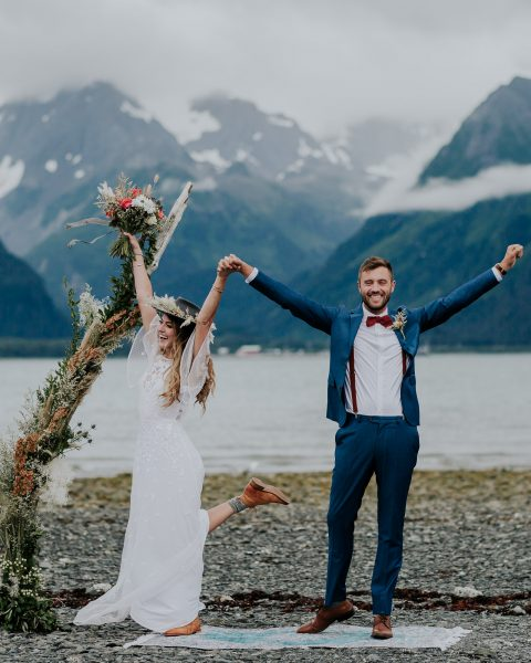 alaska elopement photographer seward wedding