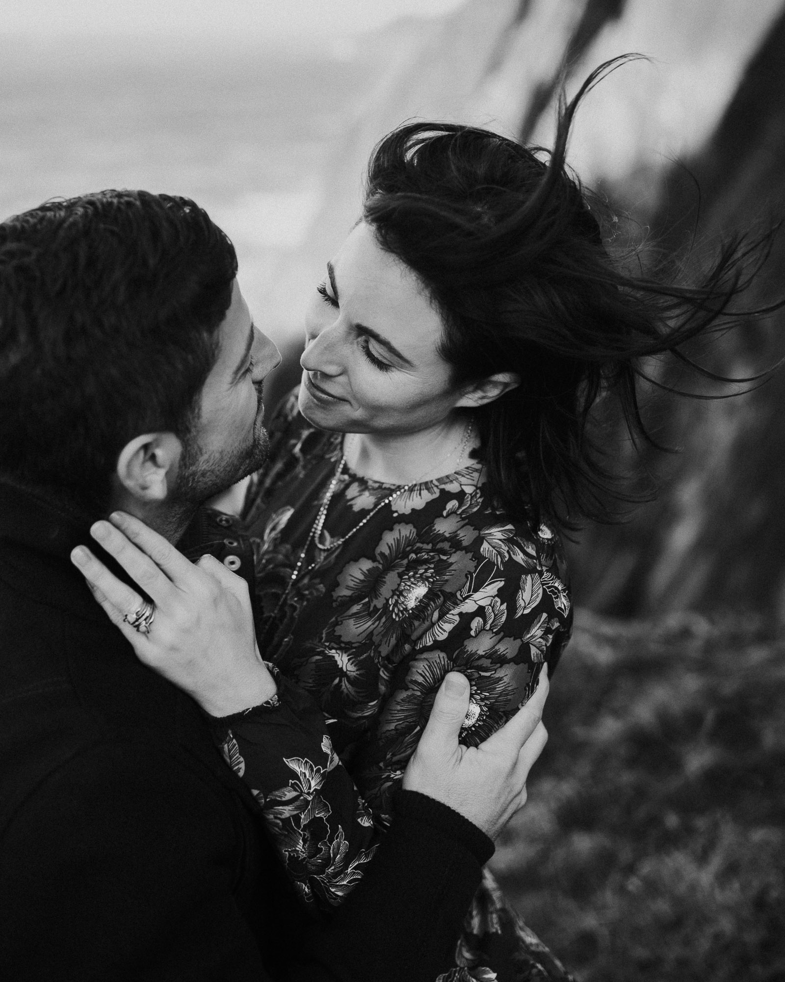 emotional engagement photo black & white