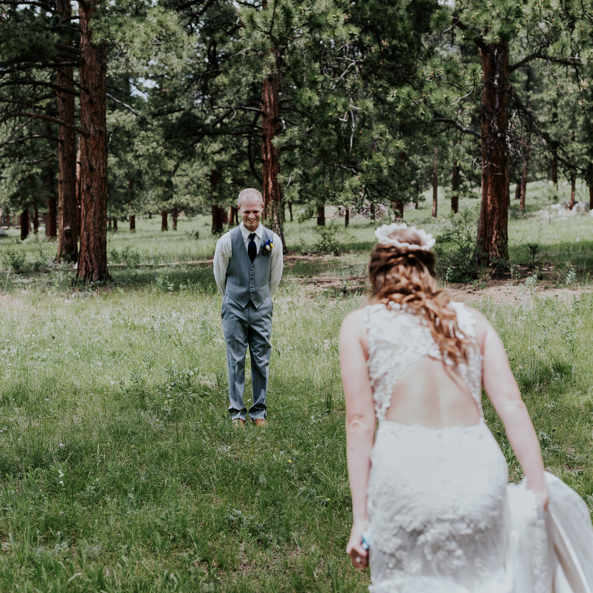 first look wedding colorado della terra mountain chateau