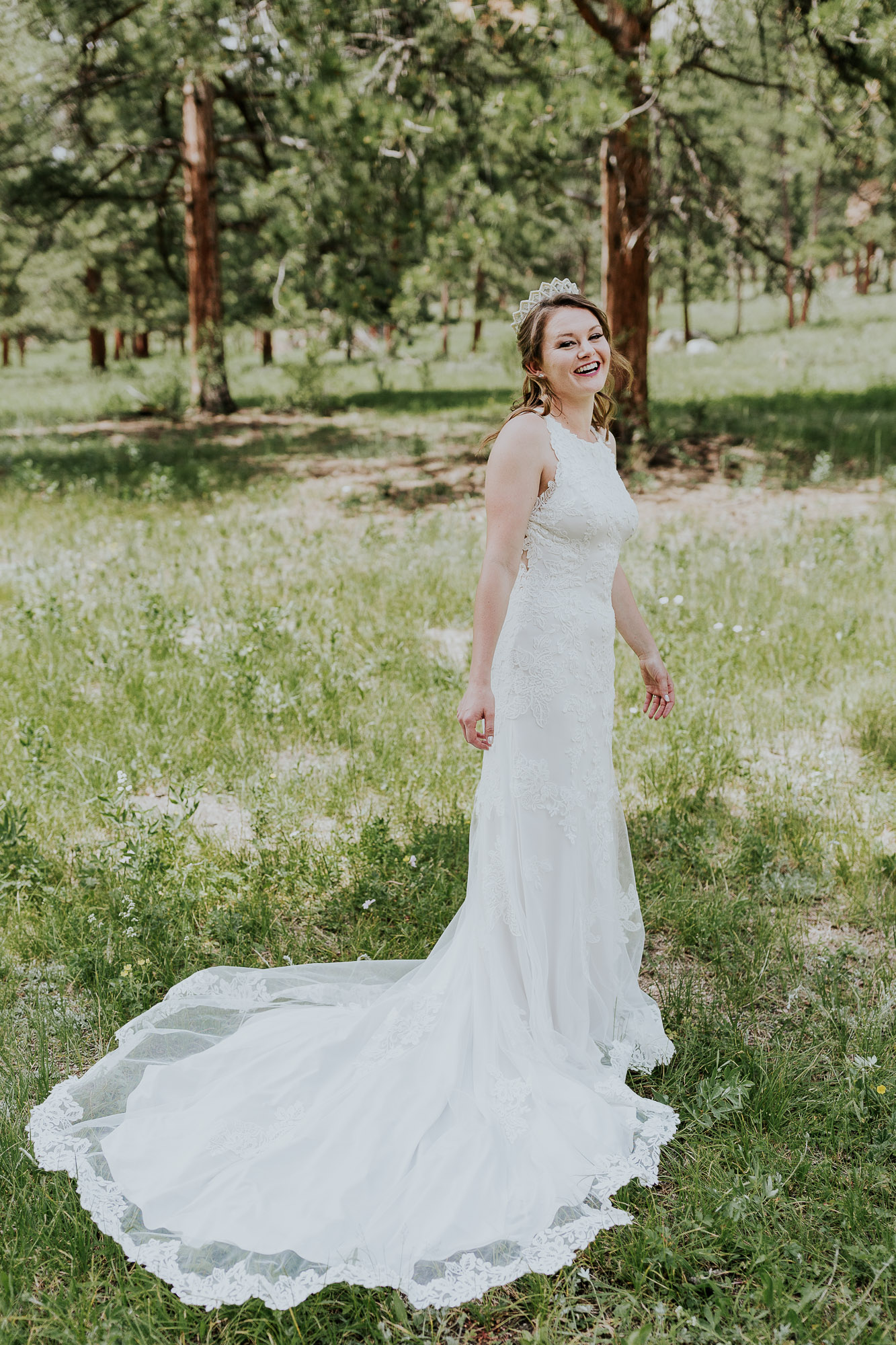 bridal portrail colorado wedding