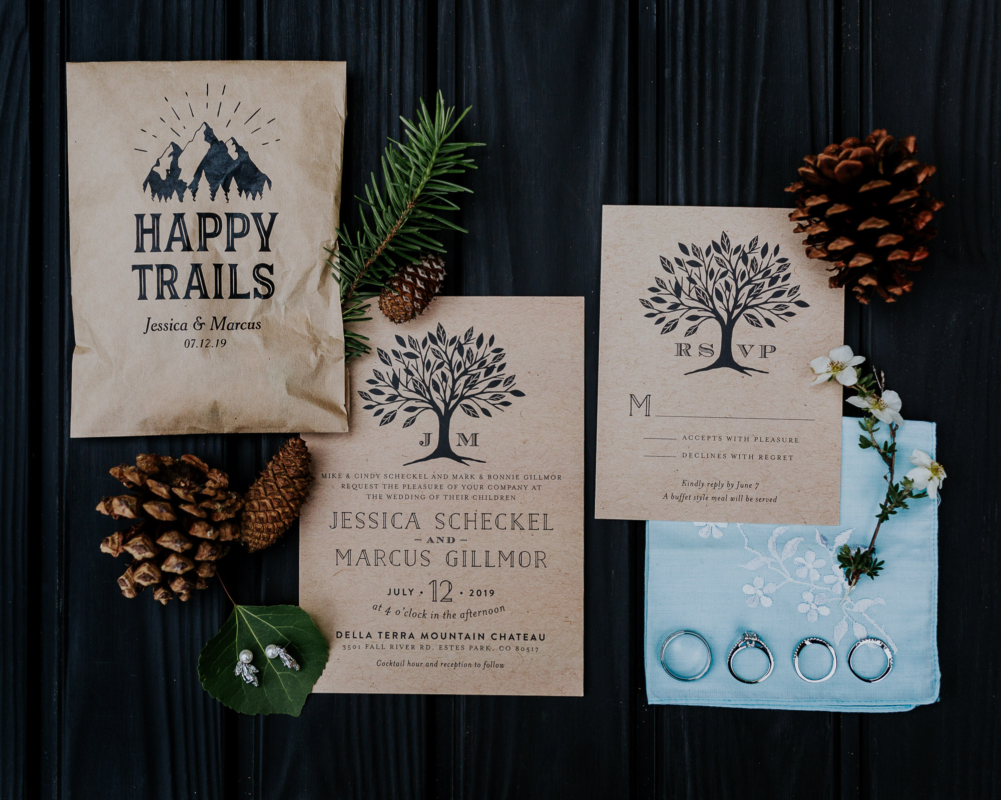 rocky mountain wedding invitation inspiration