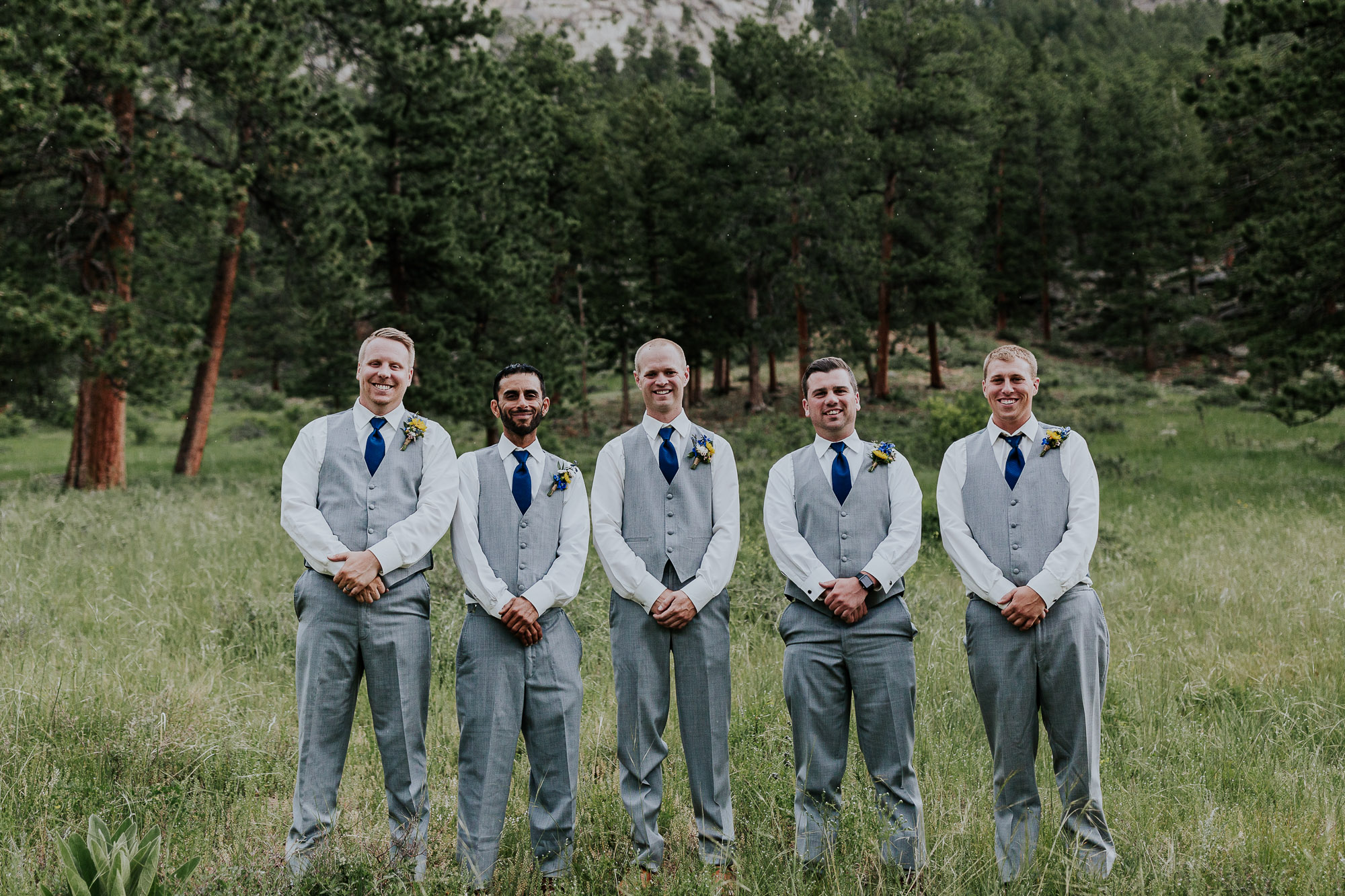 gray vests navy blue groomsmen inspiration