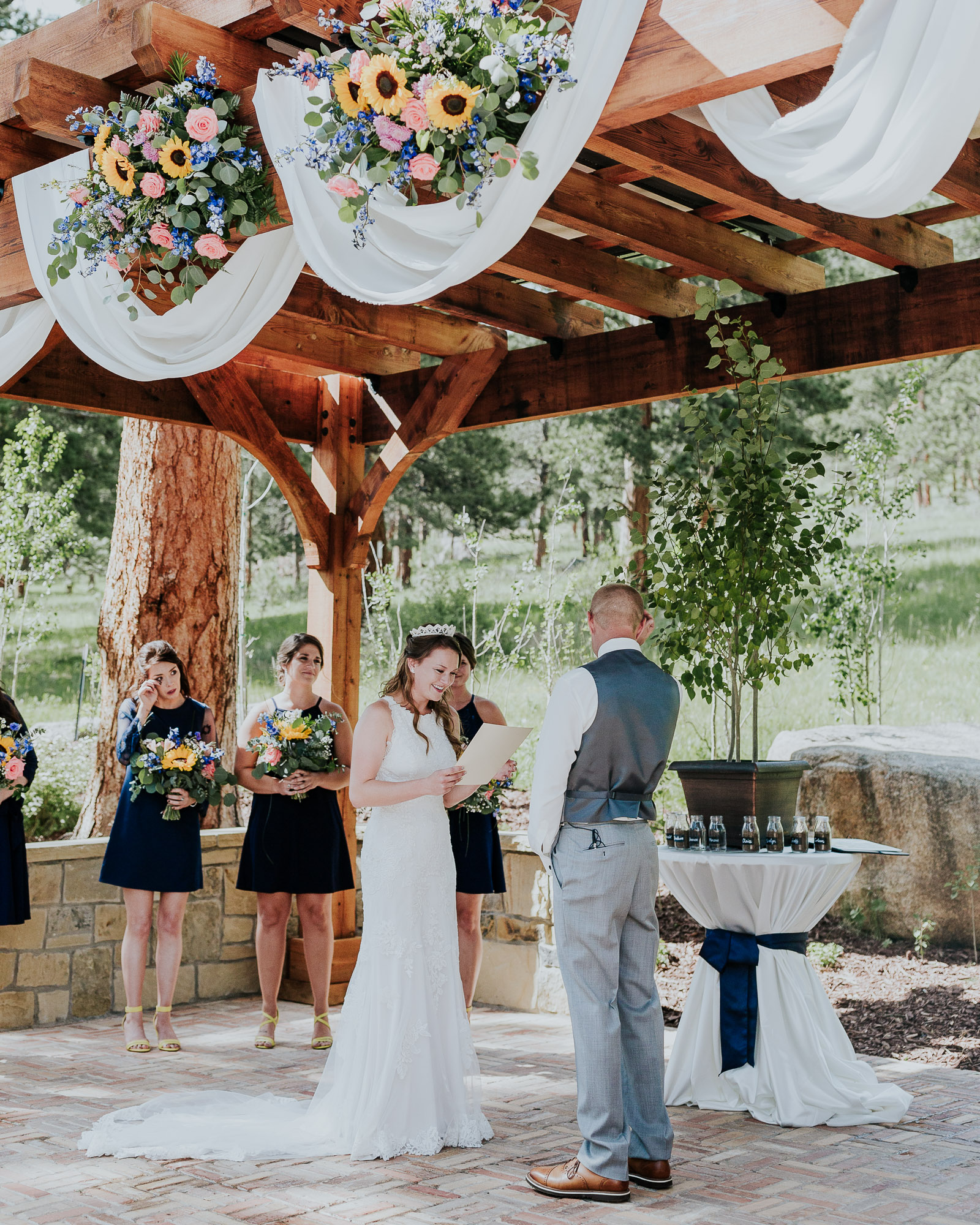 emotional vows wedding outdoor colorado wedding