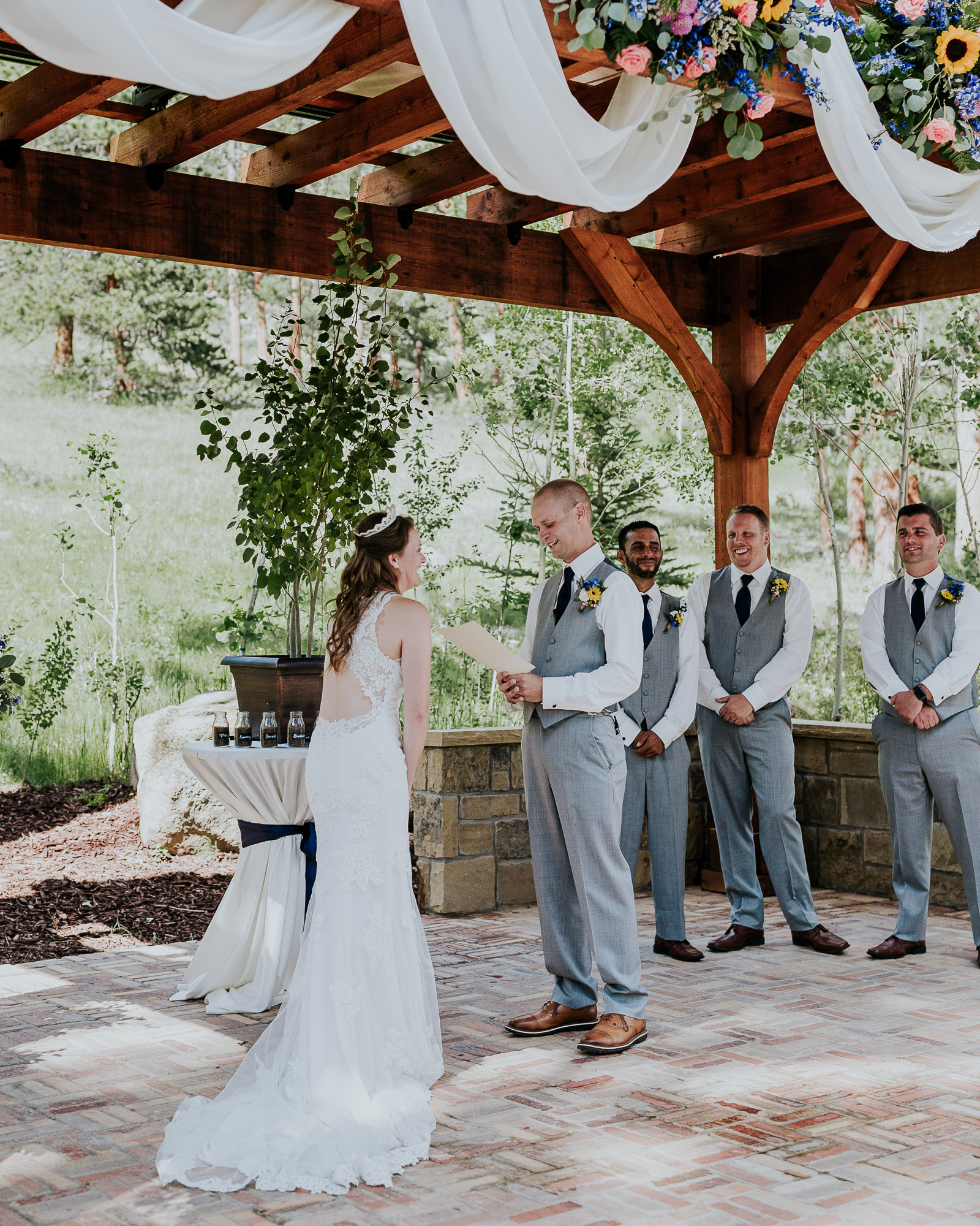 emotional wedding ceremony colorado photographer