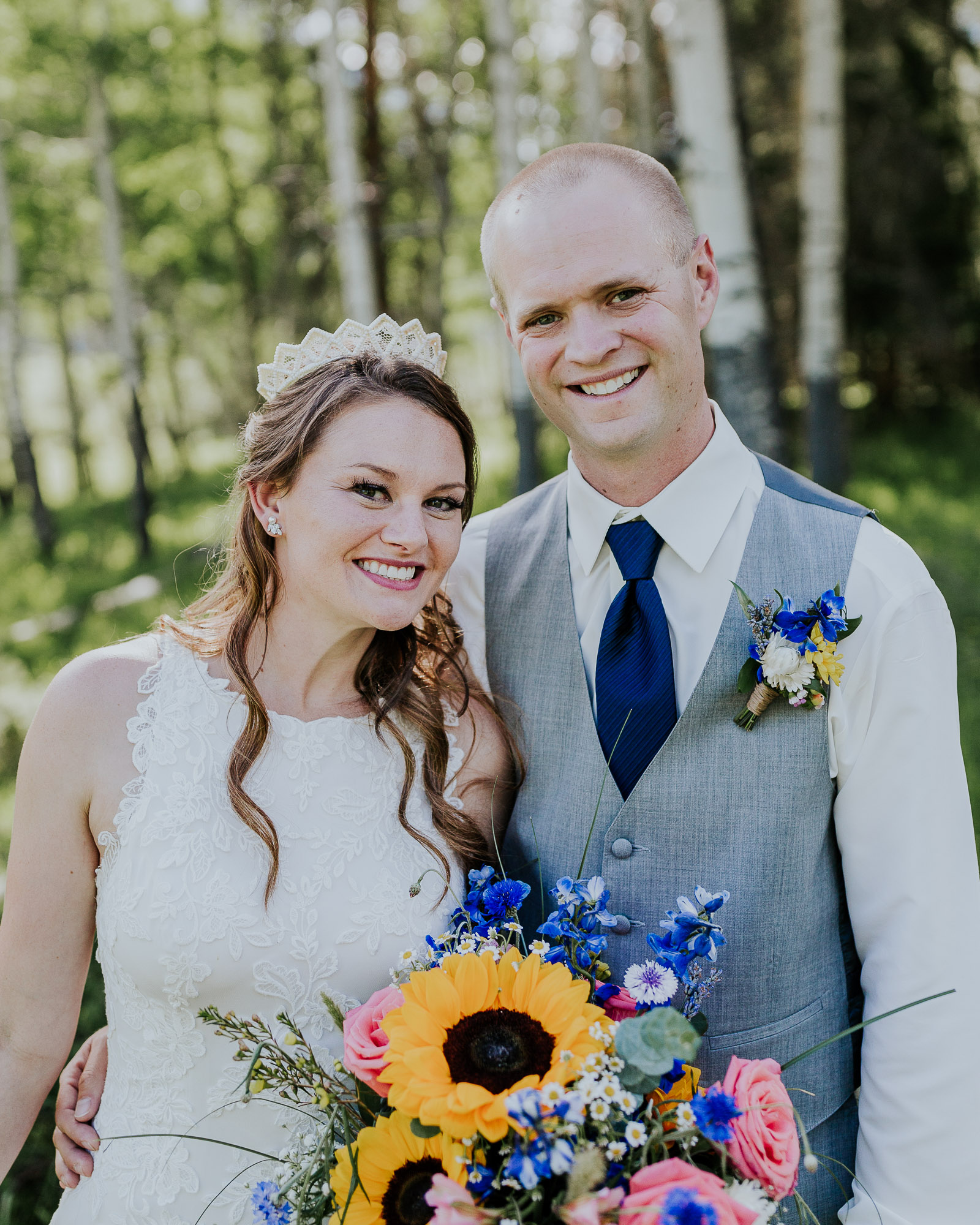 summer colorado wedding outdoor sunflower