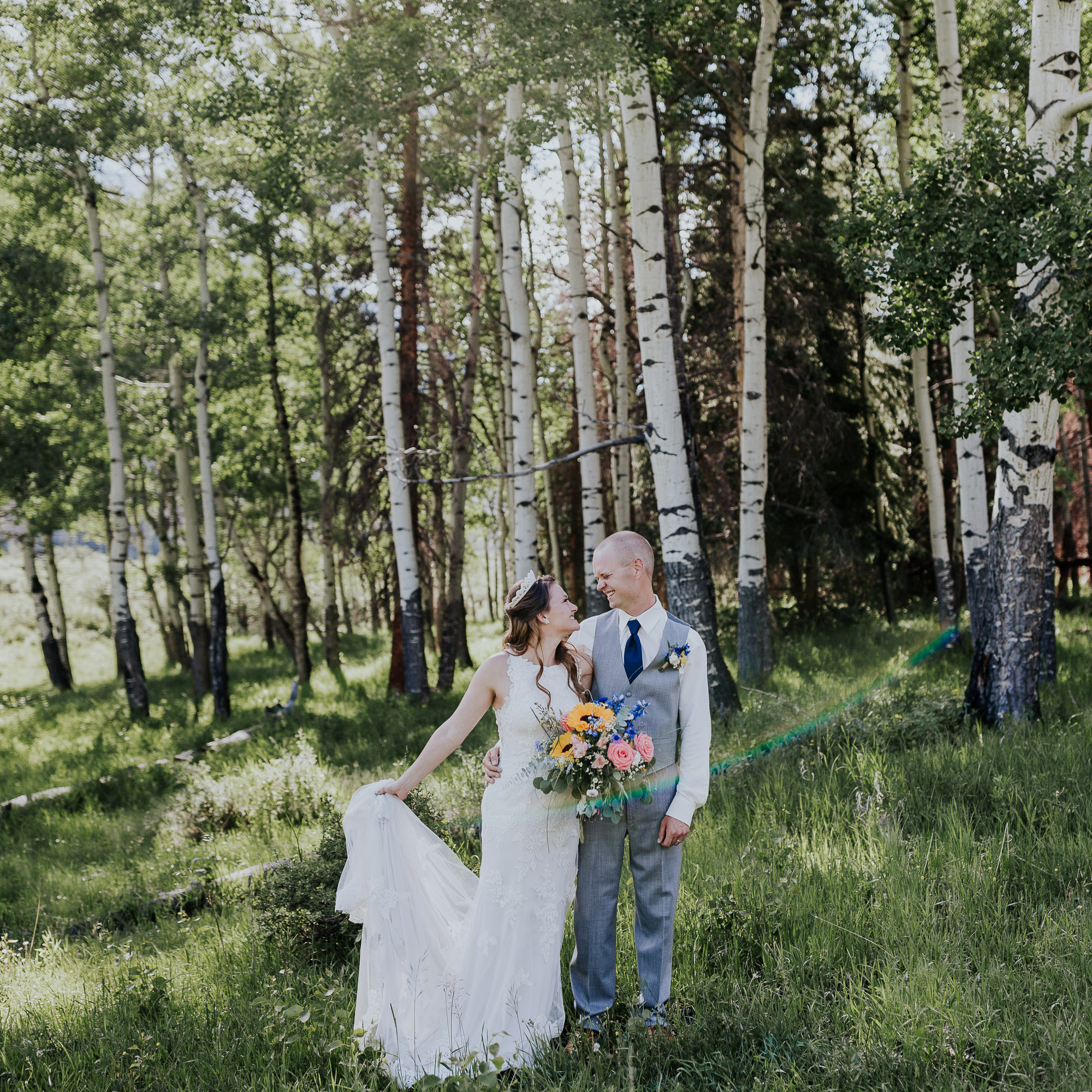 aspen trees rocky mountain national park wedding