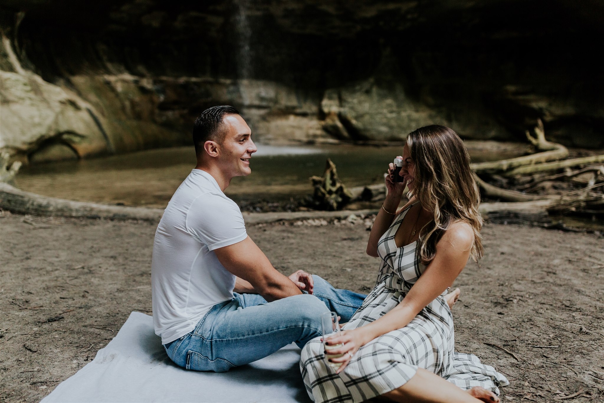 polaroid engagement photo ideas
