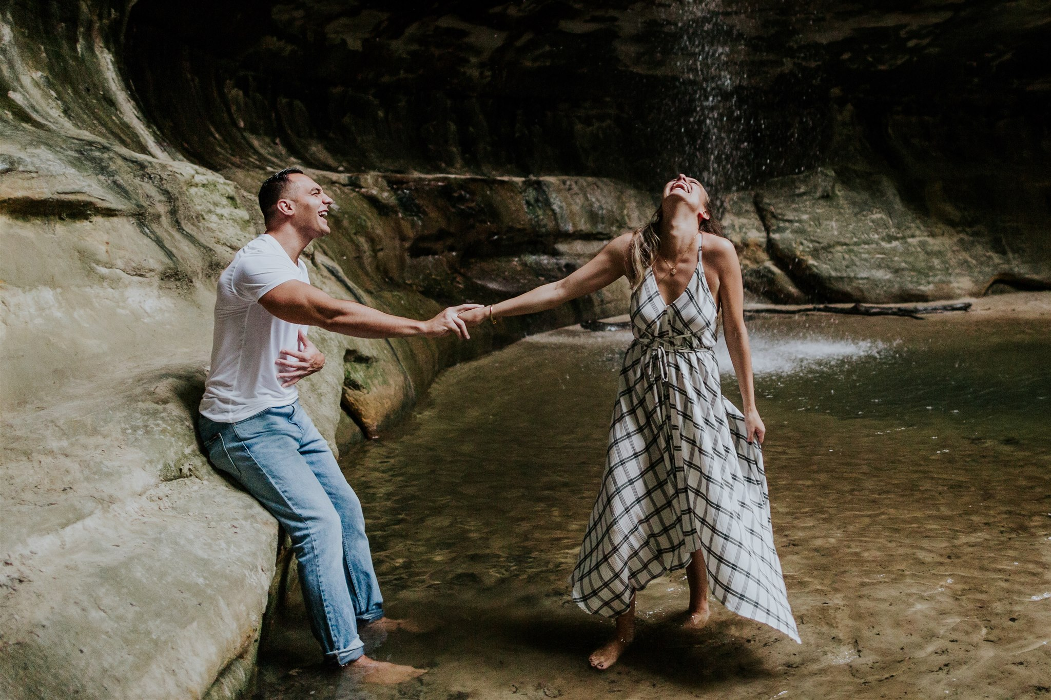 midwest waterfall engagement illinois