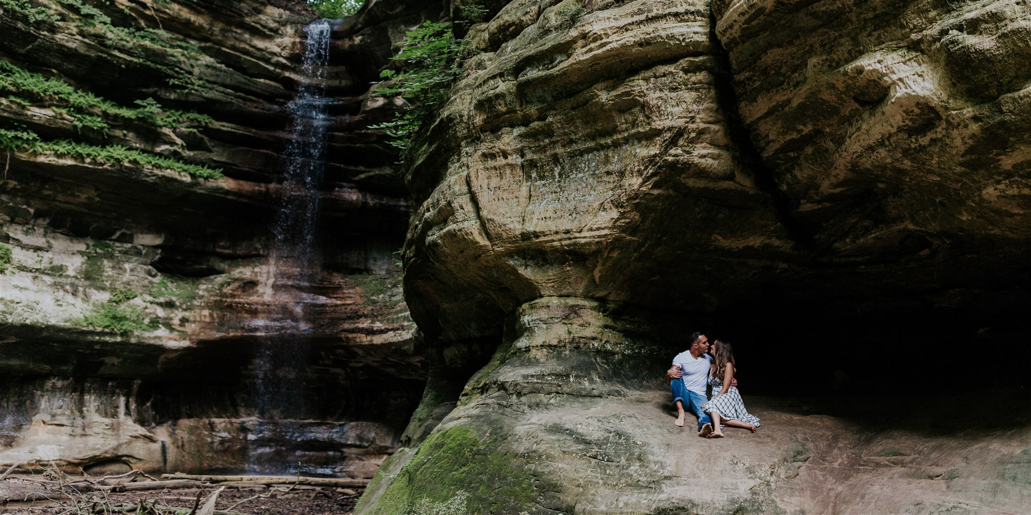 waterfall photo inspiration engagement