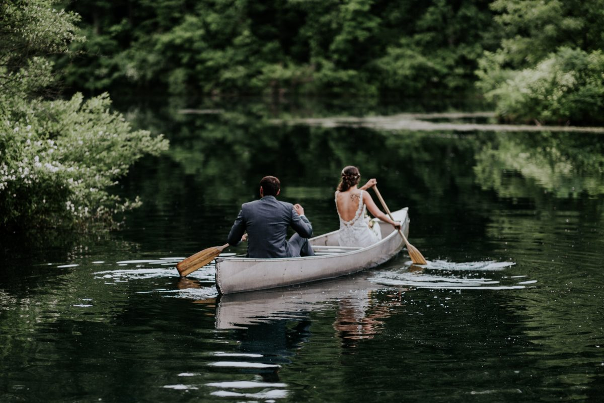 adventure wedding photographer elopement photographer midwest wedding photographer canoe camp adventure travel destination