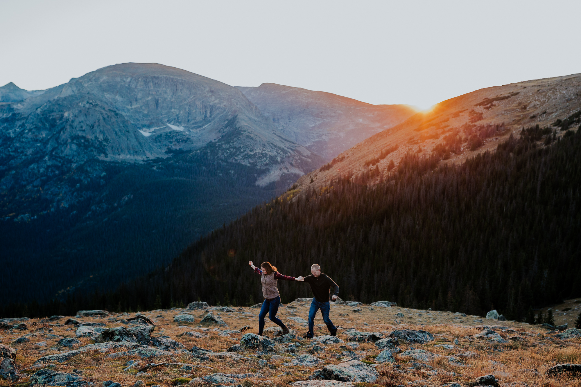 rocky mountain national park hiking engagement colorado elopement photographer emily hary