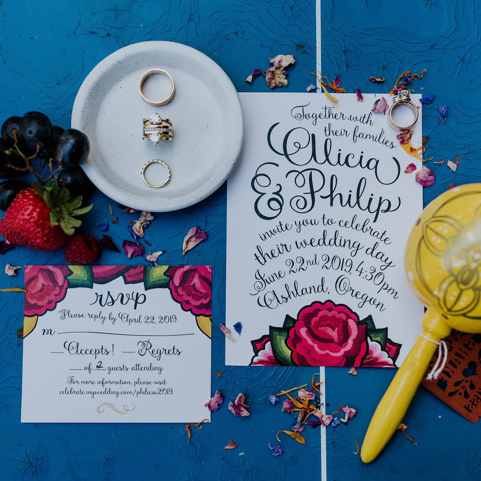 southern oregon wedding photographer spanish wedding invitation suite