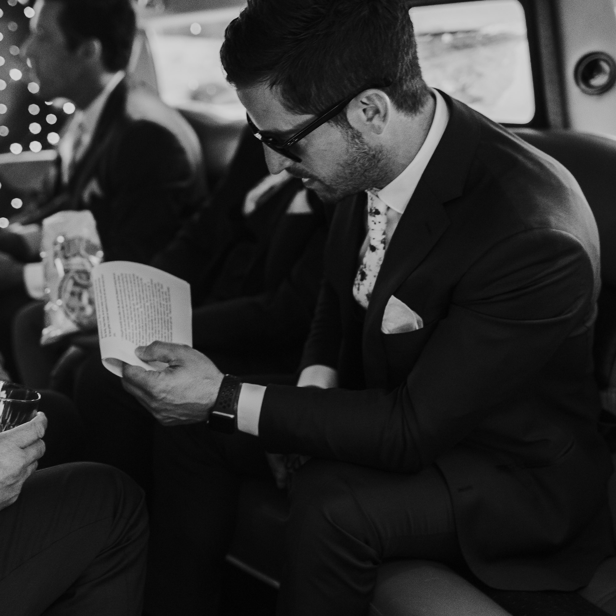 emotional groom reading letter wedding