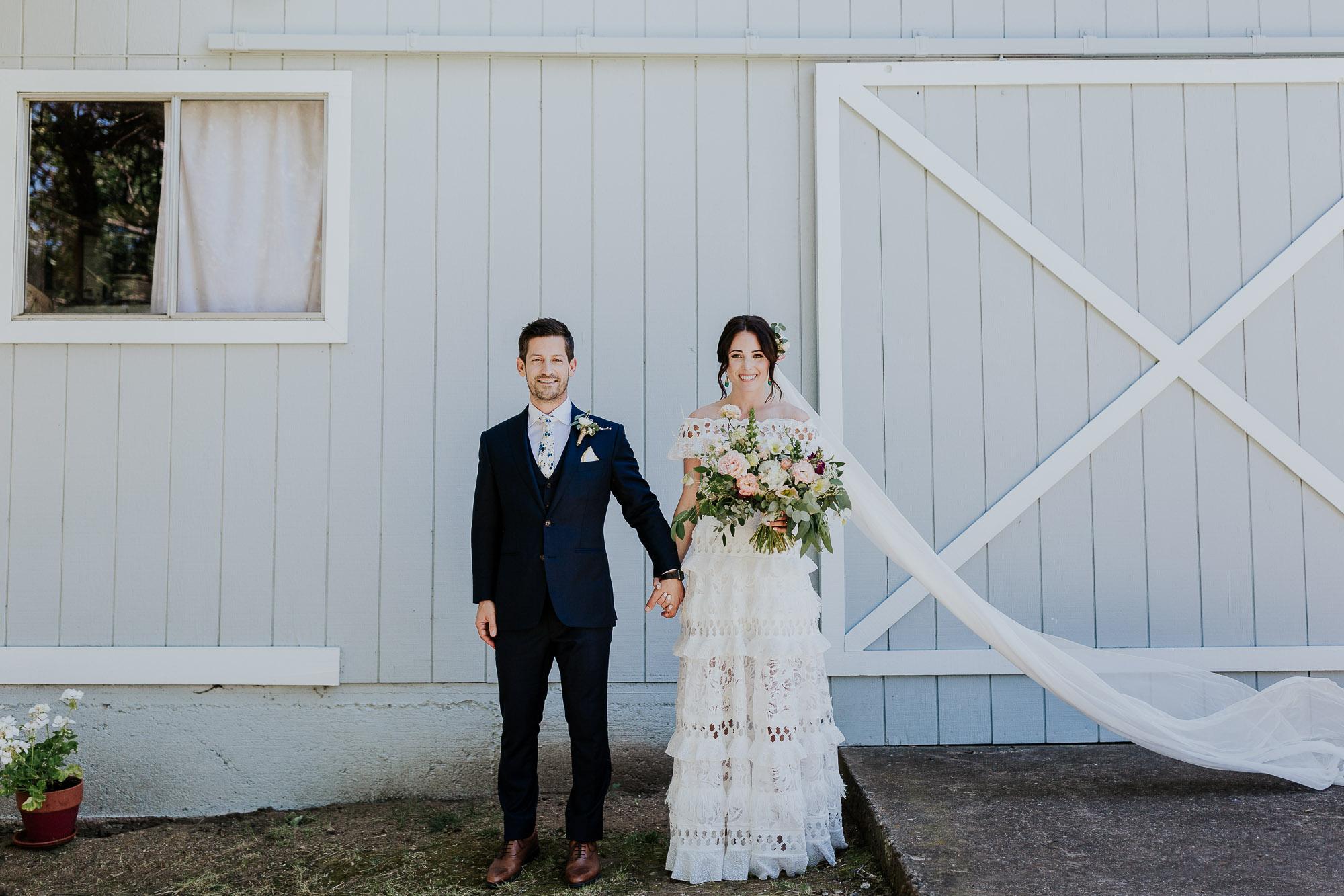 long veil spanish backyard wedding photographer oregon