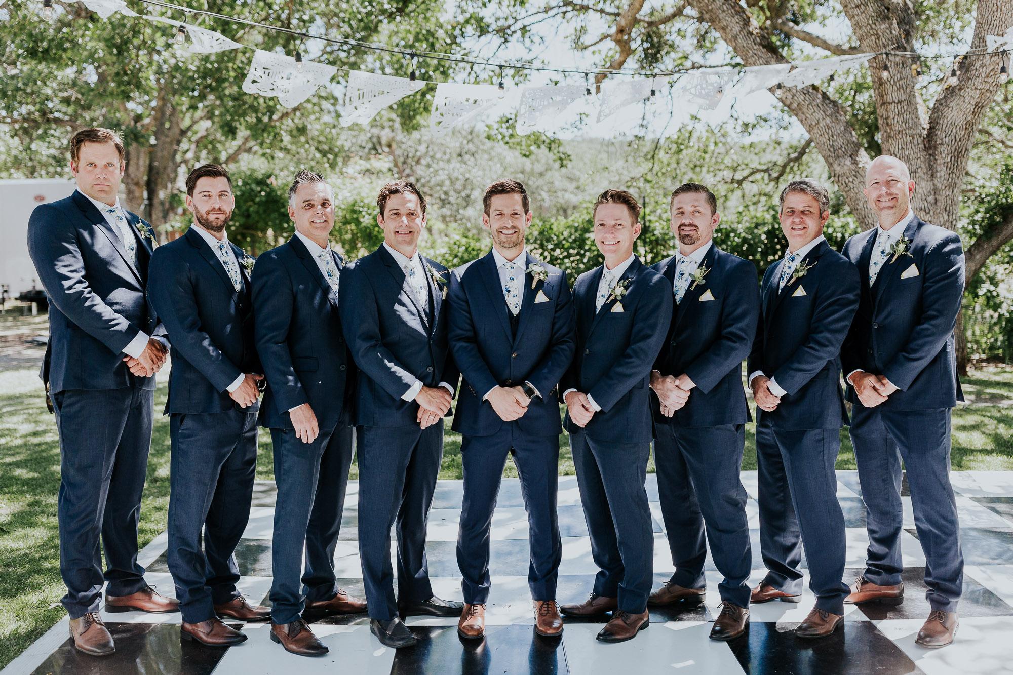 navy suits grooms backyard wedding oregon wedding photographer