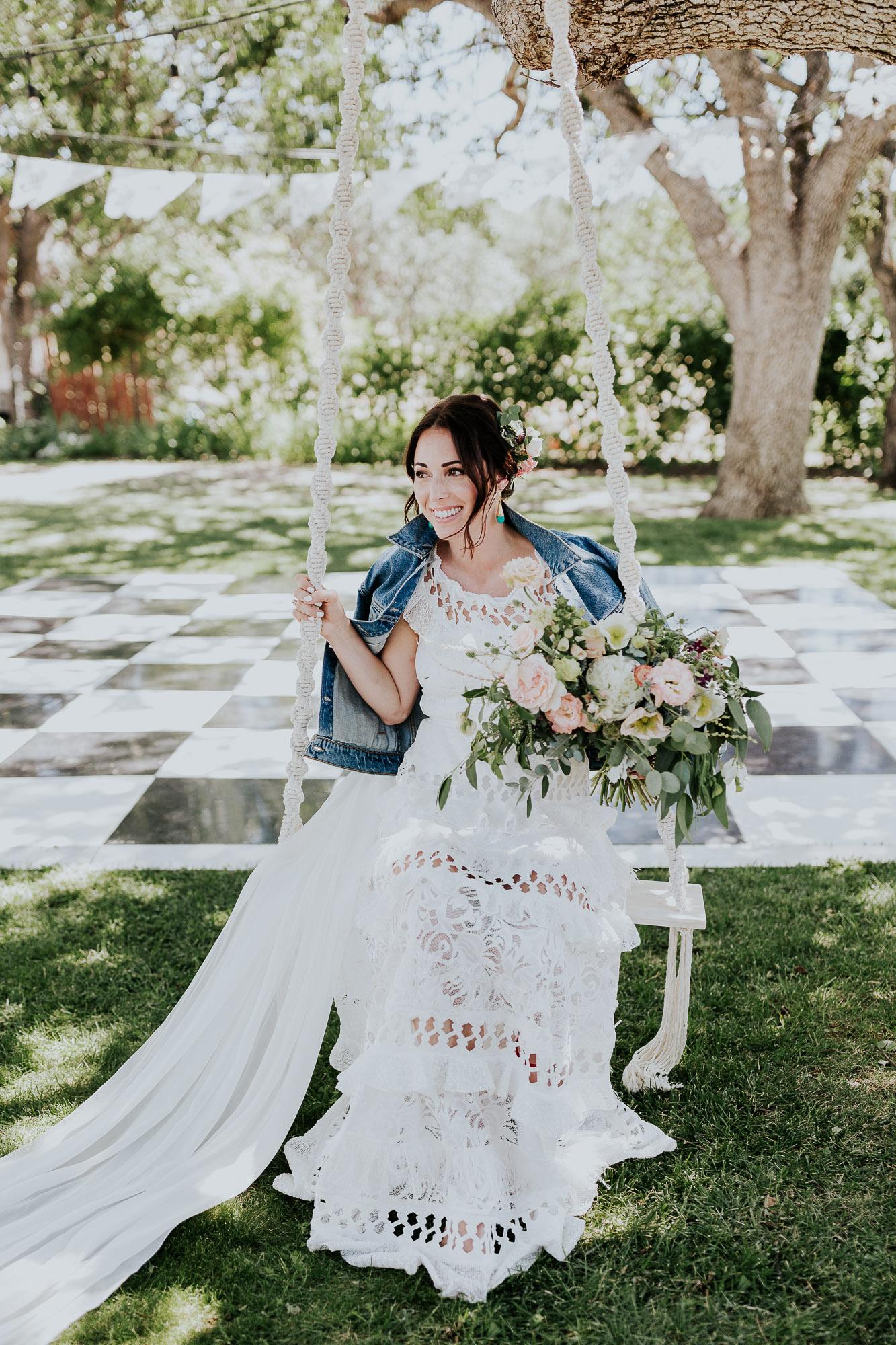 boho bride jean jacket grace loves lace