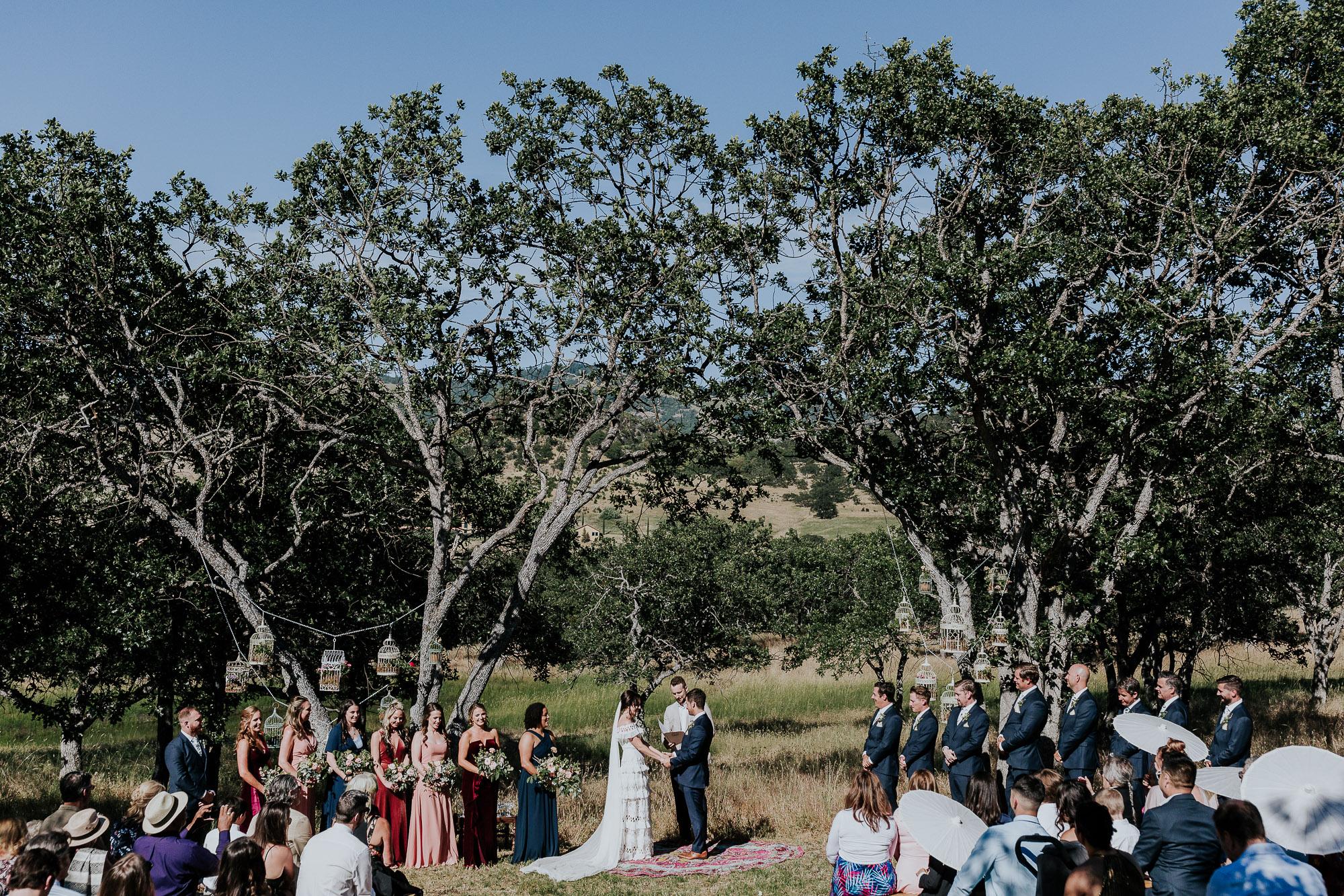 outdoor backyard wedding southern oregon wedding photographer