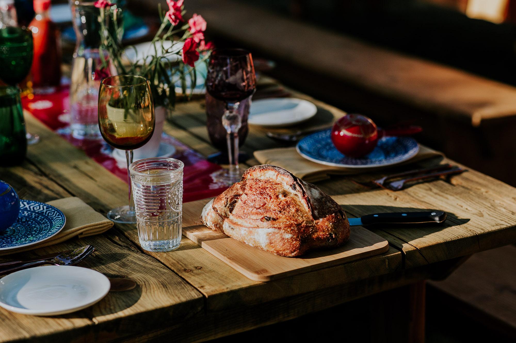 backyard wedding reception tables