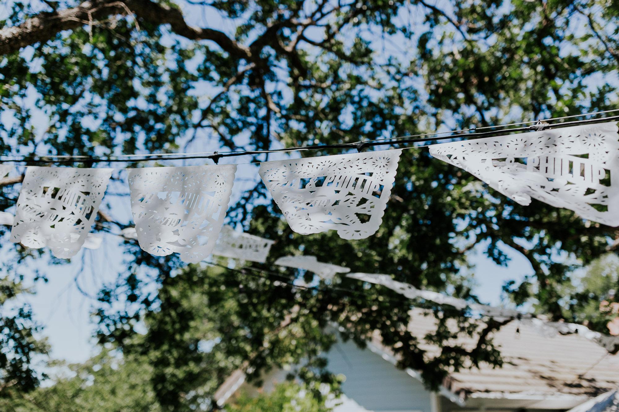 wedding bunting backyard wedding photographer oregon