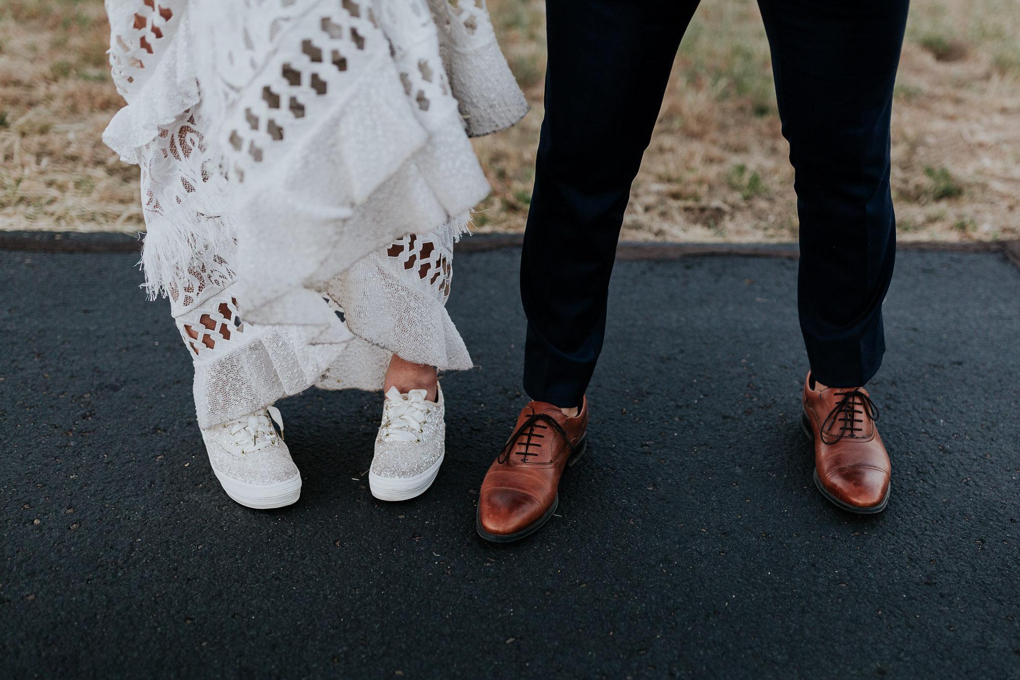 shoe shot wedding bride groom