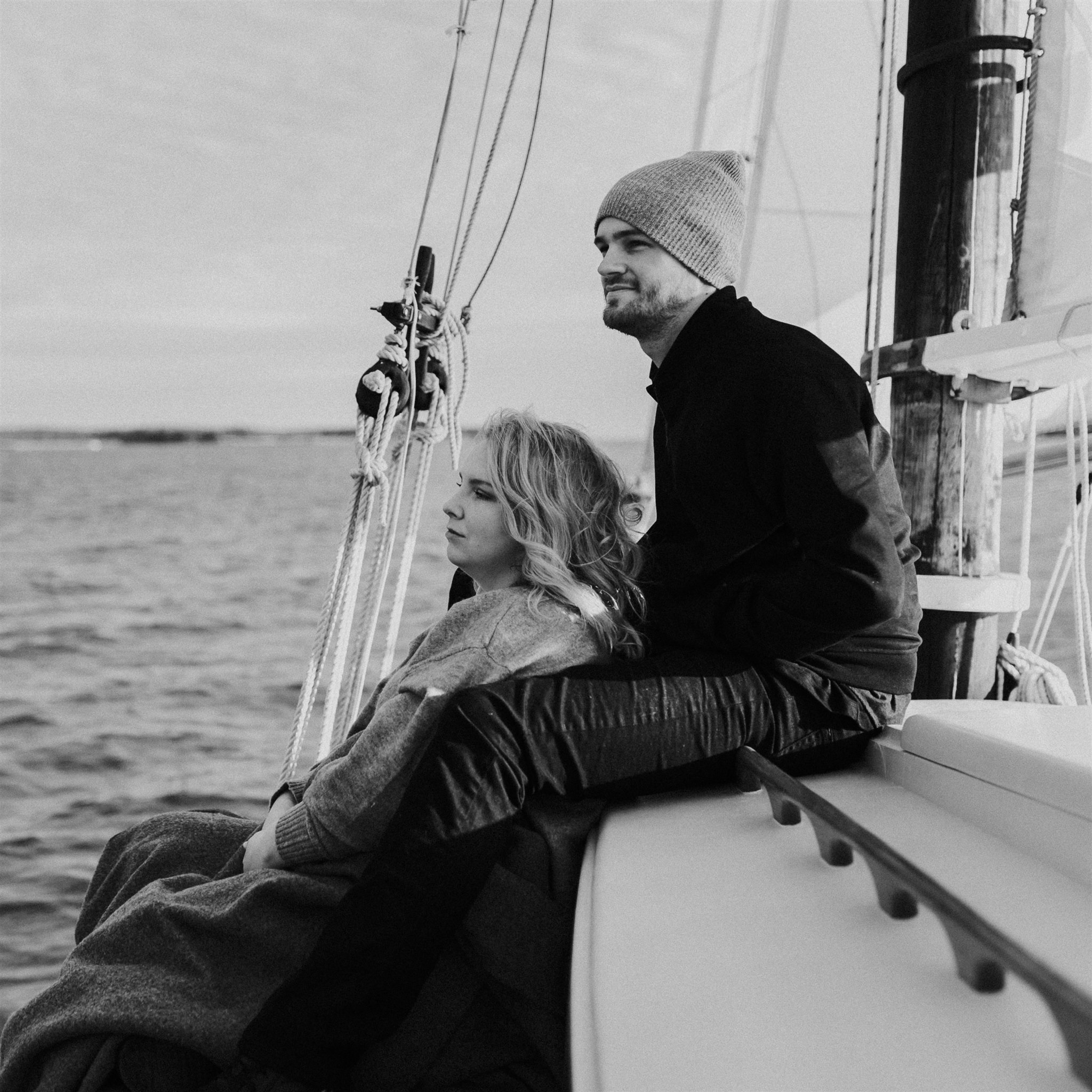 sailing engagement national park maine