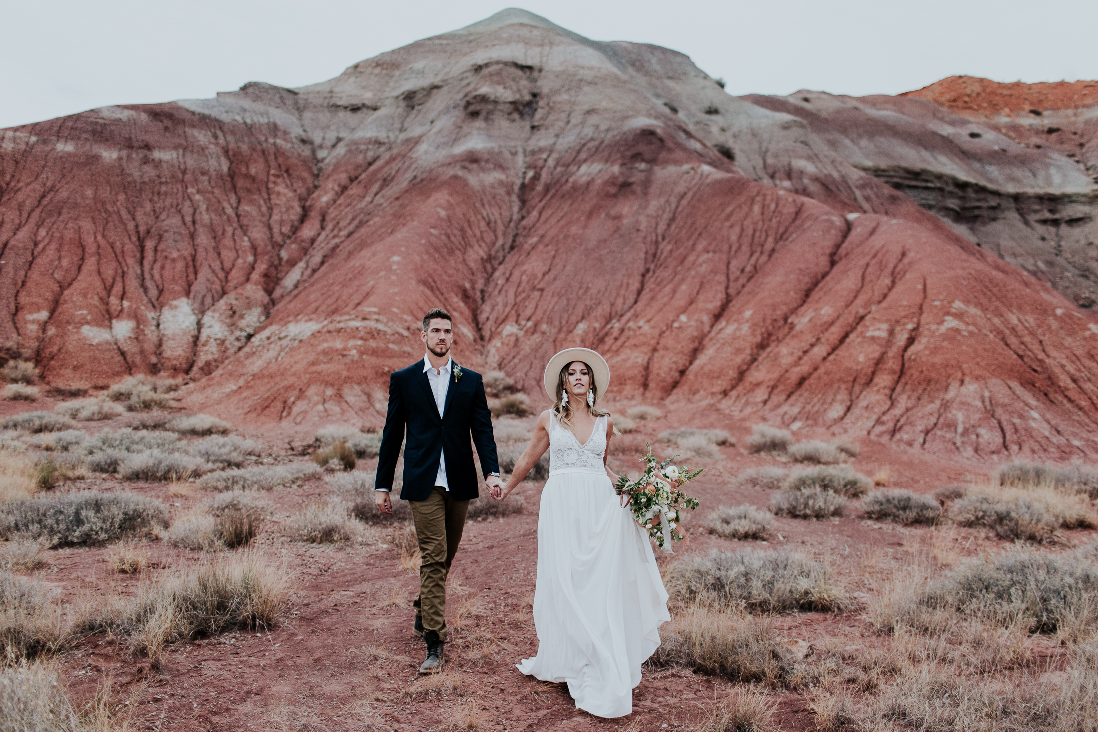 stylish desert elopement inspiration new mexico